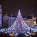 Рождественскую ель в Вильнюсе признали самой красивой в Европе